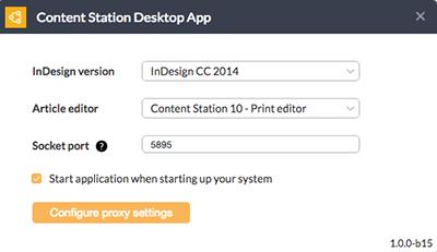 The Desktop App
