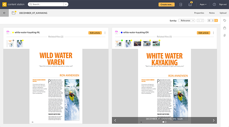 Showing articles as a story