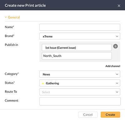 Article properties