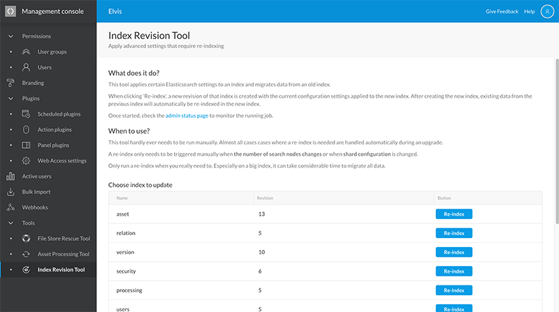 The Index Revision Tool