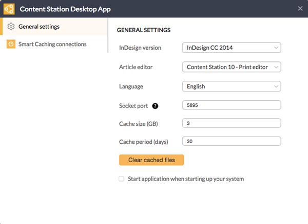 The Content Station Desktop app