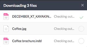 The Download Progress window