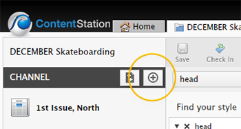The Add Publication Channel button