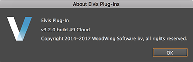 The About Elvis Plug-ins window