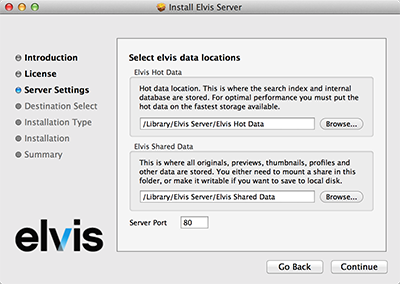 Setting the data locations on Mac OS X