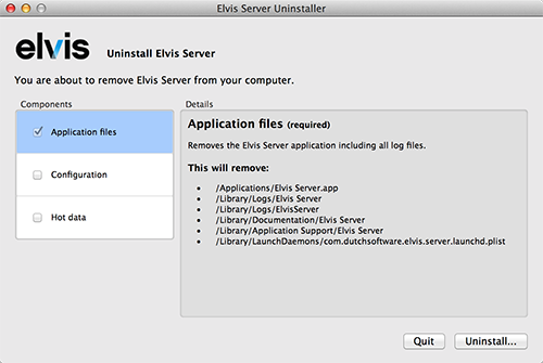 The Elvis 5 uninstaller
