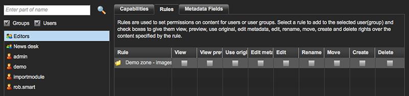 Rule permissions