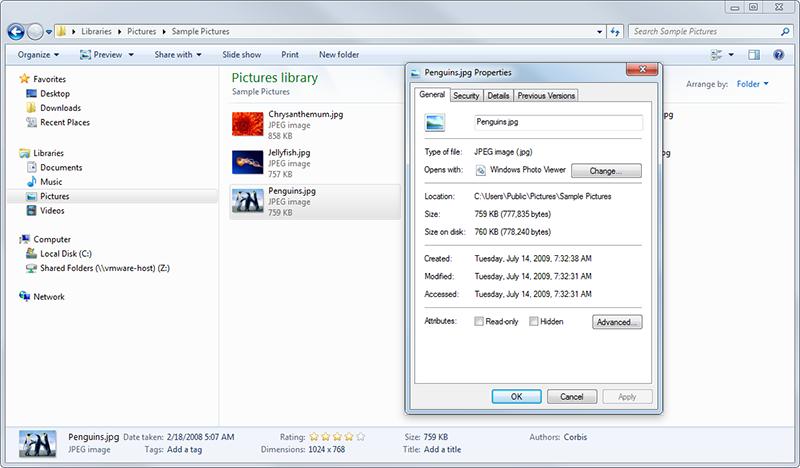 Metadata in Windows