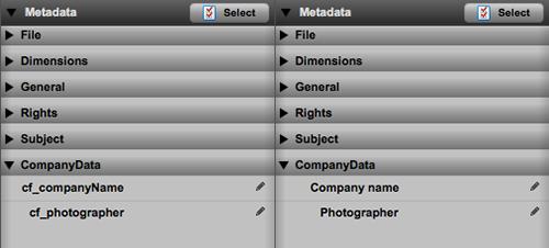 Renamed metadata fields