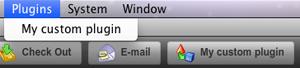 The application menu