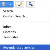 A Custom Search added to the Search menu