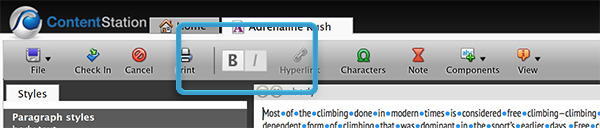 List buttons hidden in the toolbar