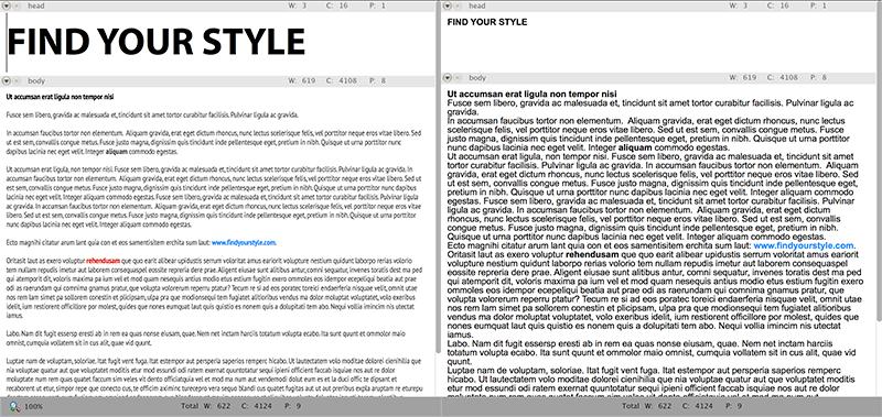 Article visual mode comparison