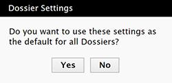 Set default columns confirmation message