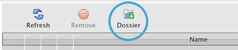 The New Dossier button