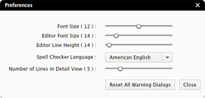 The Content Stationi preferences