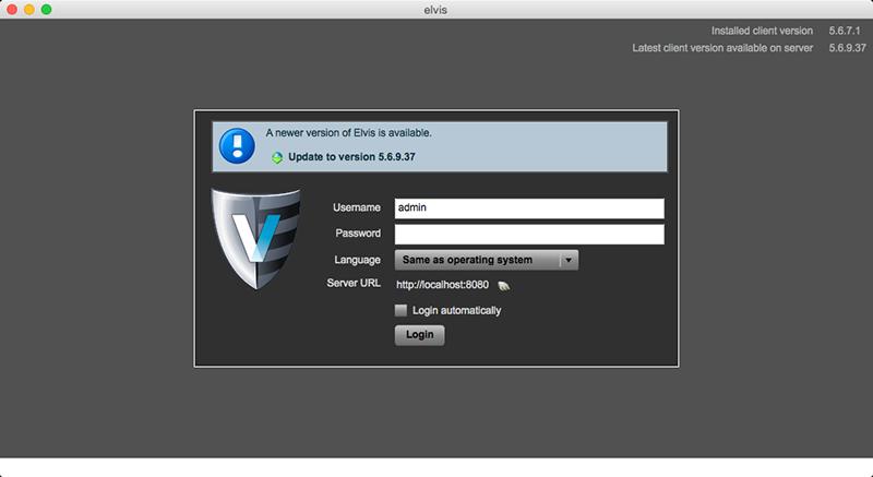 Desktop client upgrade message