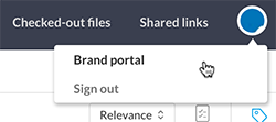 The Brand portal option in the Pro client menu