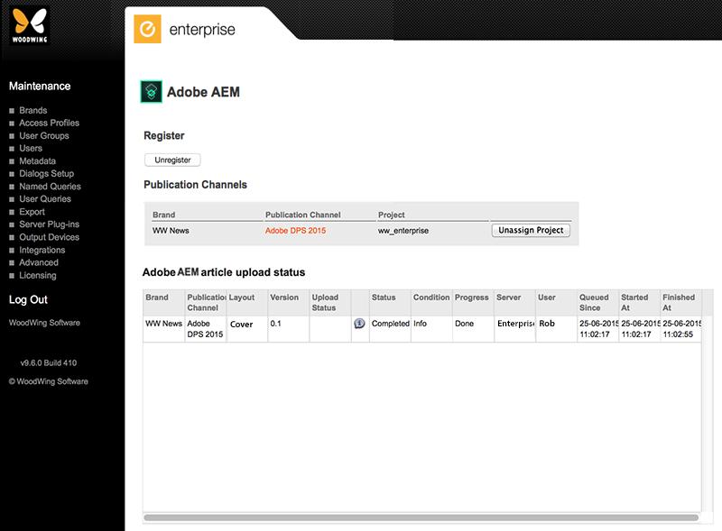The Adobe AEM Maintenance page