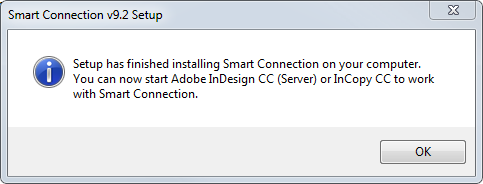 Successfully installed message on Windows