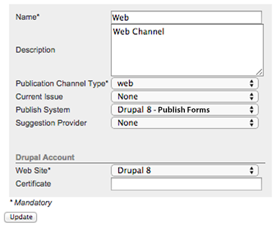 The Drupal 8 account settings