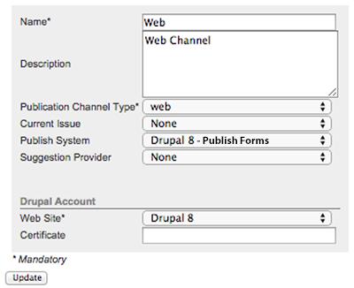 The Drupal 8 account settings