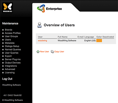The Overview of Users page