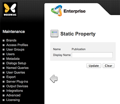 The Static Property page
