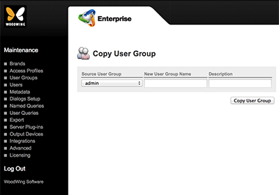 The Copy User Group page
