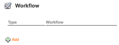 The Workflow options on the Maintenance page
