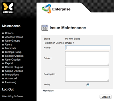 The Issue Maintenance page for Drupal 7