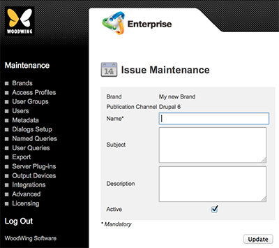 The Issue Maintenance page for Drupal 6