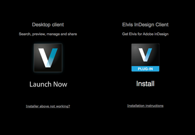 The Client Install page