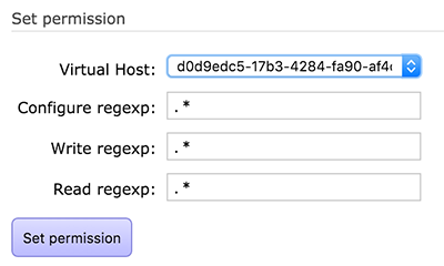 Setting the Virtual Host permission