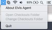 The Elvis Agent menu