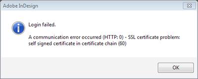 The SSL error