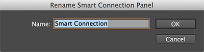 The Rename Smart Connection panel dialog box