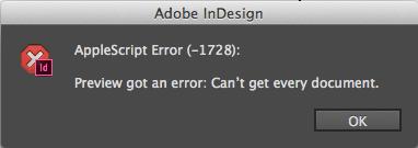 AppleScript error -1728