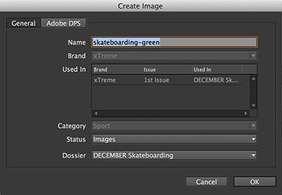 The Create Image dialog box
