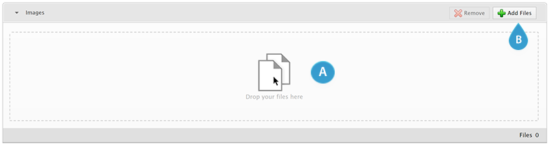 The multiple files field with no files added
