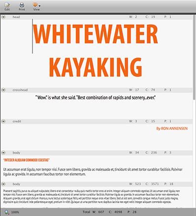 An article viewed with the Visual Mode in Content Station