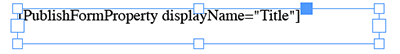 An InDesign text frame with a variable inserted