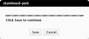 The Save dialog box when checking out a file