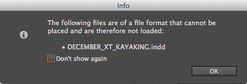 Unsupported files message