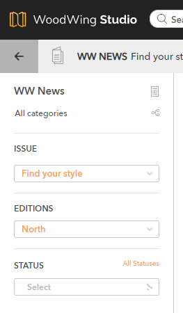 The Edition filter in the Publication Overview