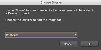 The Choose Dossier window.