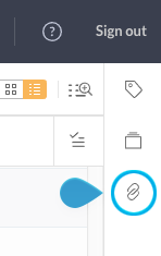 The Linked files panel icon