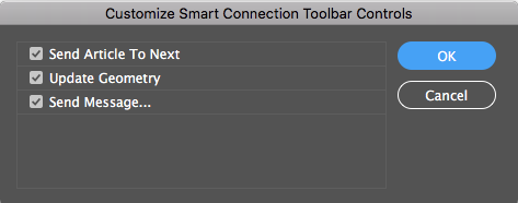 The Customize Smart Connection Toolbar options