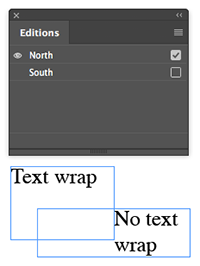 Text wrap example - wrap applied