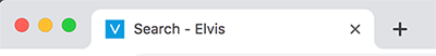The text 'Elvis' in the Web browser tab